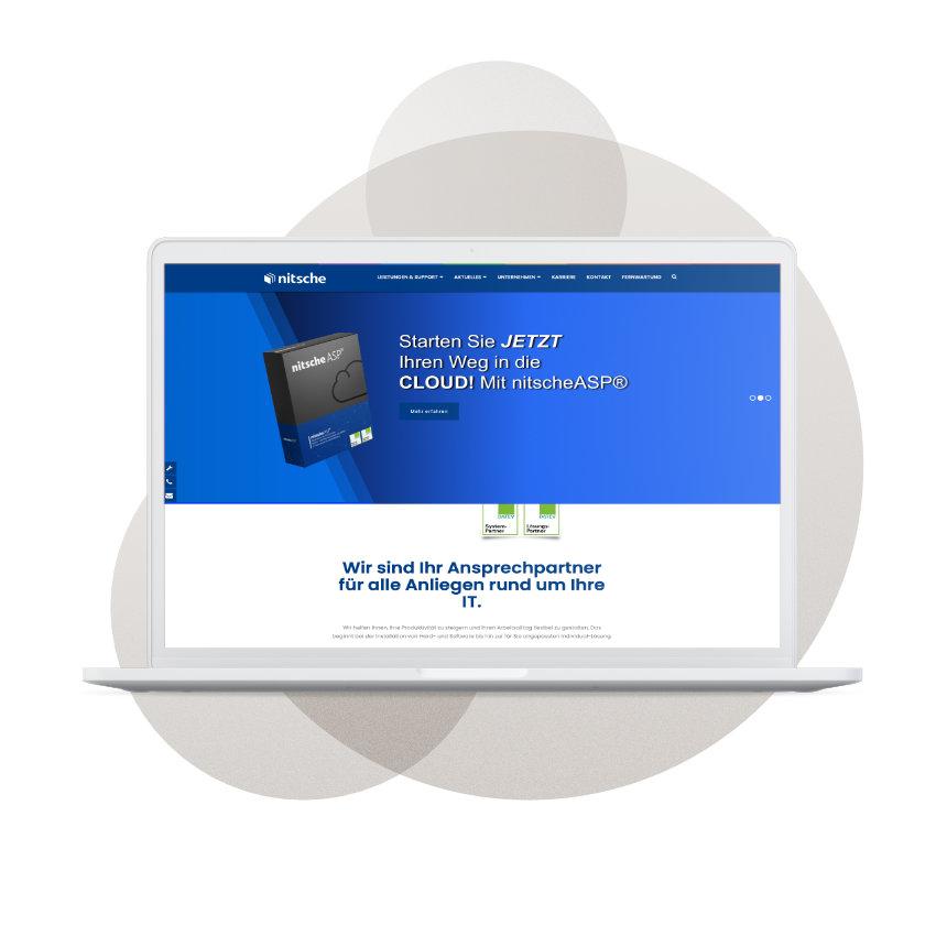 Screenshot des Digi-Bel-Partners Nitsche