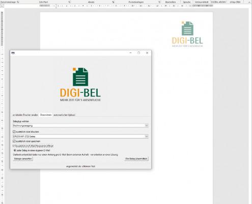 Screenshot zum Thema Digi-Bel-Virtueller Drucker