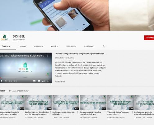 DIGI-BEL auf Youtube